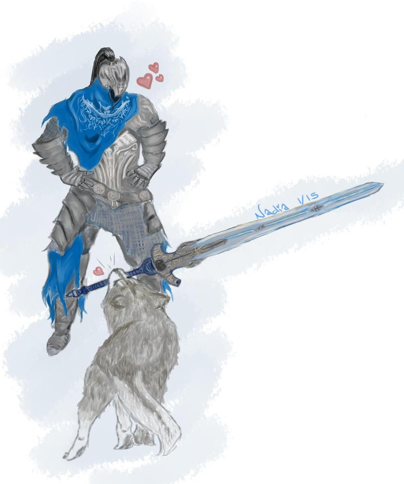 Dark Souls: Artorias and Sif by Chocolate-Luver