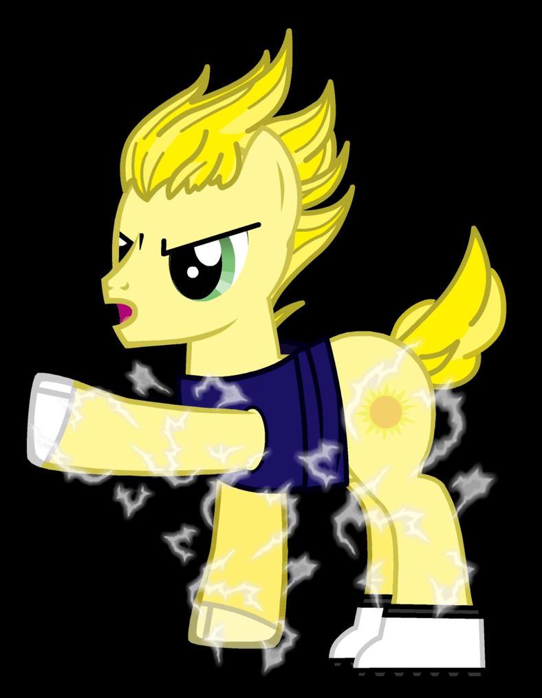 MLP SSJ vegeta pony by Awesomeeleking5