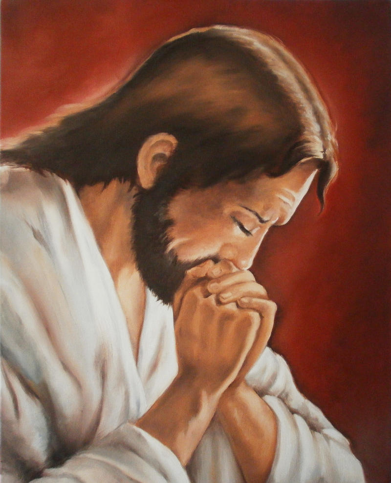 Praying Jesus by MeYaIeM
