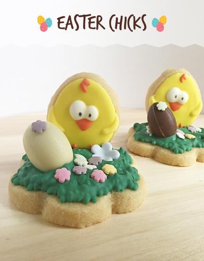 Easter Chicks Cookies by MeYaIeM