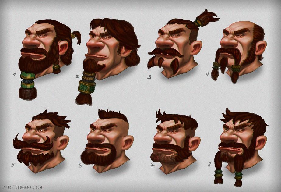 Dwarf - Beard Styles by Wyndagger on DeviantArt