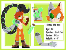 Thomas The Fox: Re-Design by DarknessTheDemonFox