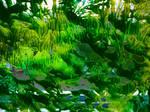 green landscape - cut out