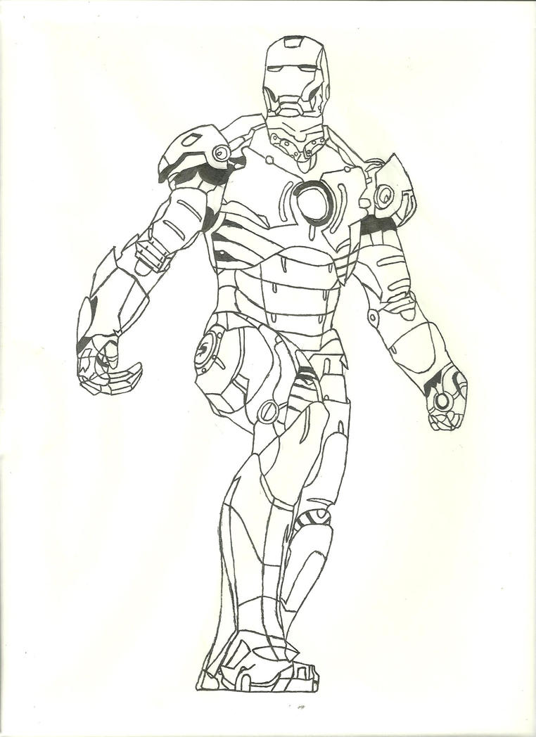 Iron Man Inked by EDSW-Group