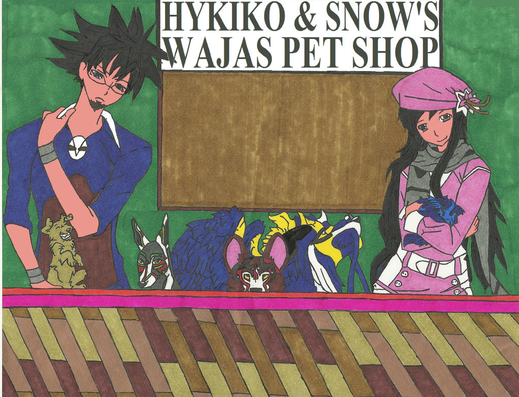 Hykiko & Snow's Wajas Pet Shop Colored by EDSW-Group