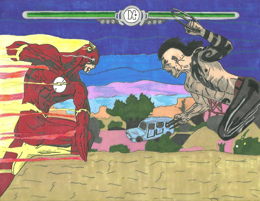 Flash vs Daken by EDSW-Group