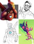 Iron Babes Doodles