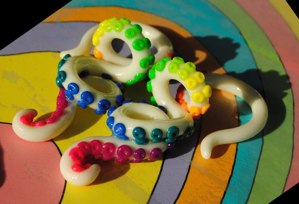 Neon Rainbow Glow Tentacles by jessmonster87