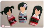 Paper Kimono Dolls
