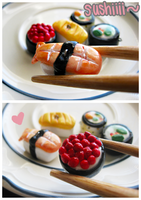 Sushi Charms by Cubic-Factory