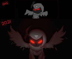 Dark Absol Redraw by Cerpkakie