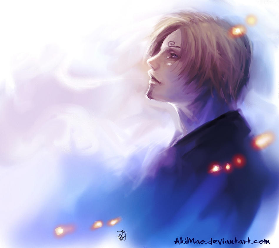 speed_painting:Sanji: by AkiMao