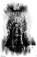 Derek Hale x Iron Throne by AkiMao