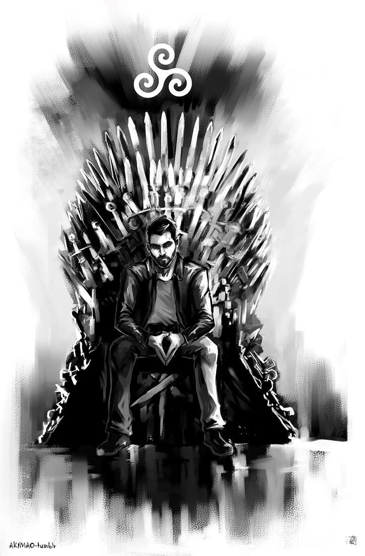 Derek hale x iron throne by akimao on deviantart for Iron throne painting