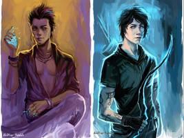 Magnus Bane_Alec Lightwood by AkiMao