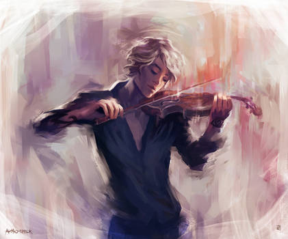 Violin and James Carstairs
