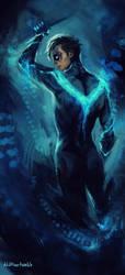 blue Nightwing by AkiMao