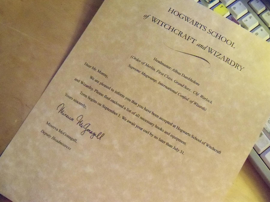 Hogwarts Acceptance Letter by shesoverthere on DeviantArt