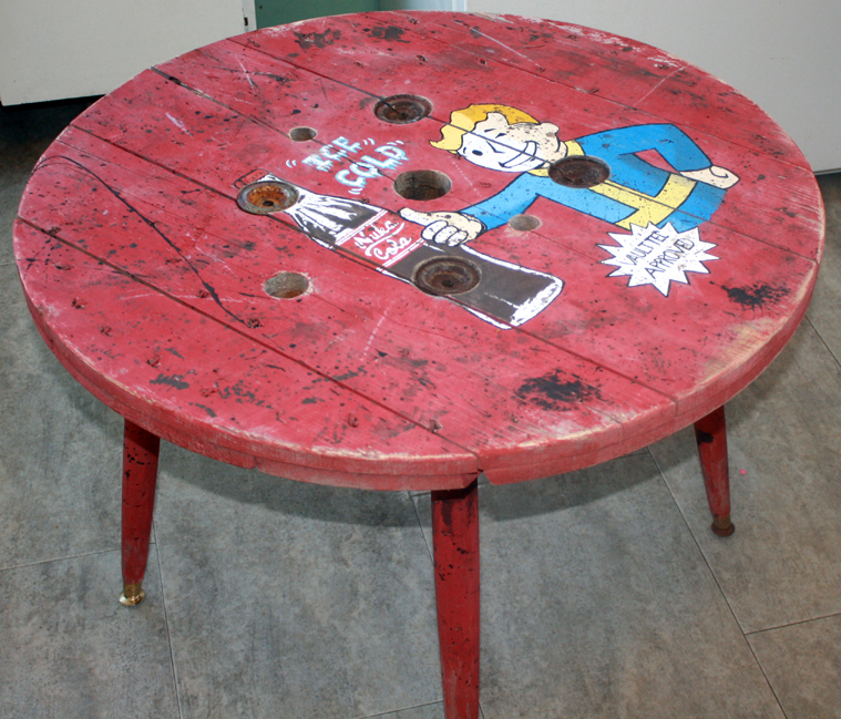 Fallout Spool Man Cave Coffee Table By Flemw ...