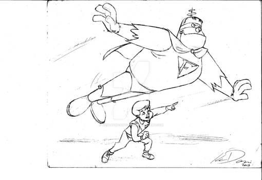 Frankenstein Jr. and Buzz Conroy