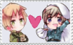 Hetalia: England X Finland stamp by Mintleaf-99