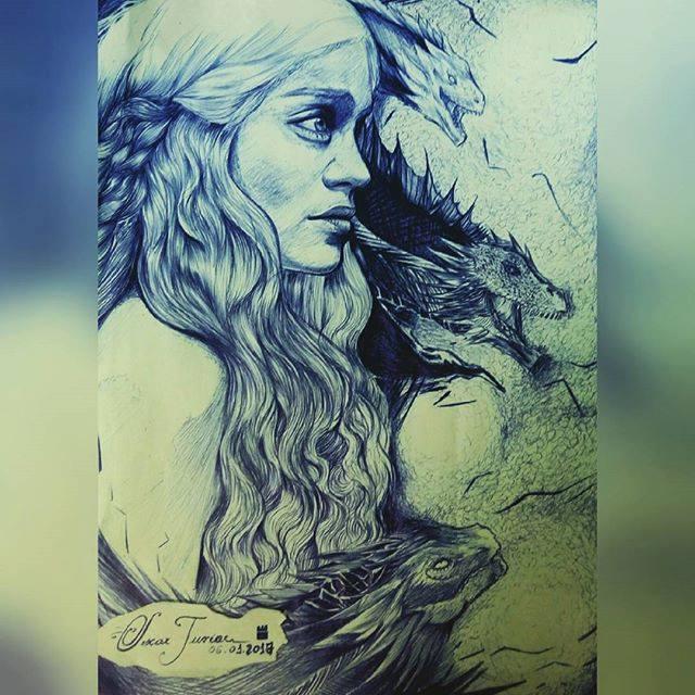 Daenerys Targaryen Mother Of The Dragons by Oscarliima
