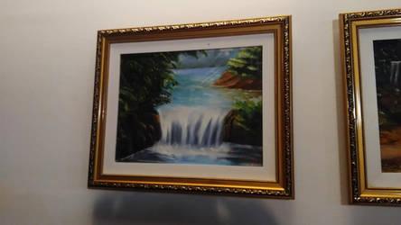 Amazon Waterfall / Oil Painting On Canvas.