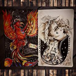 Two more new drawings in my sketchbook