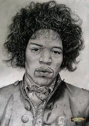Jimi Hendrix guitarist and vocalist of the psyched by Oscarliima