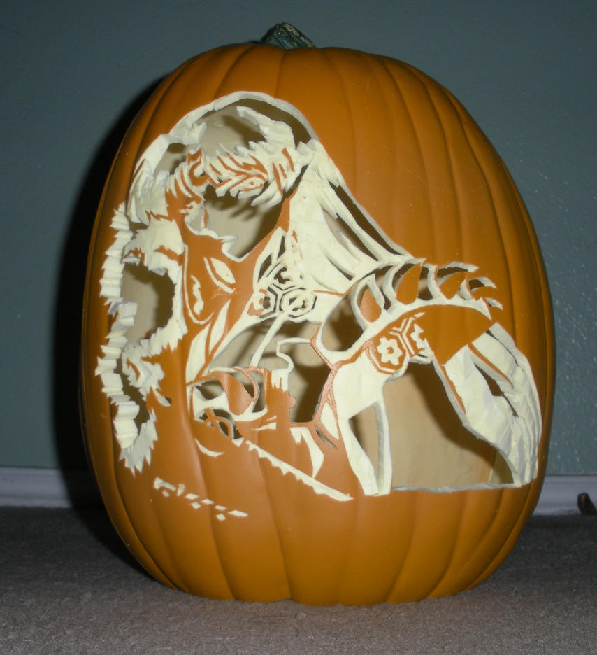 Sesshomaru Pumkin - unlit by mystaya171
