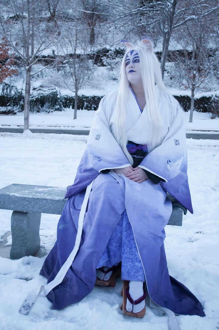 Kitsune in winter by mystaya171