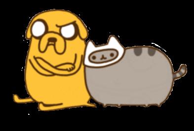 Adventure Time! w/ Pusheen by LaniNila
