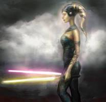 JA Jaden Korr With Lightsabers by Faietiya