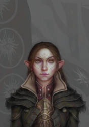 Inquisitor Lavellan by Faietiya