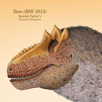 Stan (Tyrannosaurus rex male) by IllustratedMenagerie