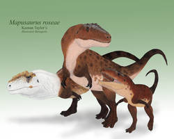 Mapusaurus Family by IllustratedMenagerie