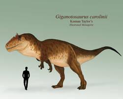 Giganotosaurus carolinii by IllustratedMenagerie