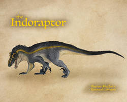 Indoraptor by IllustratedMenagerie