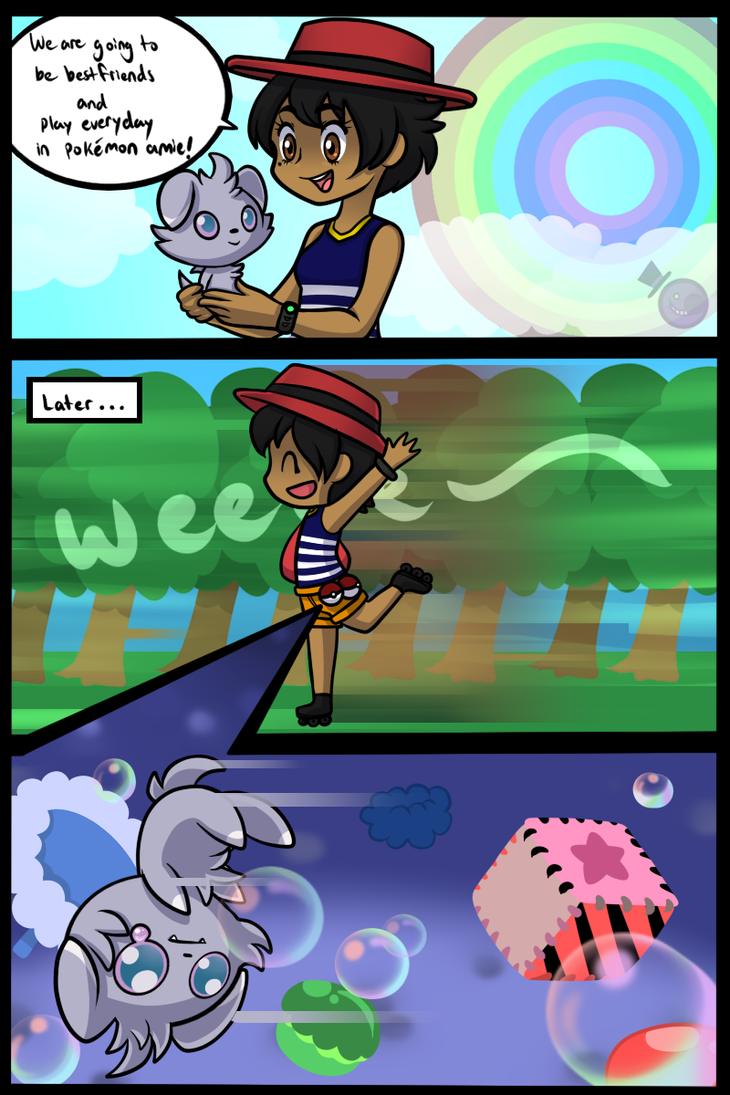 What Happens In Pokemon Amie when You Skate by HeartStringsXIII