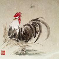 Inktober '18 - #5 Chicken by toedeledoki