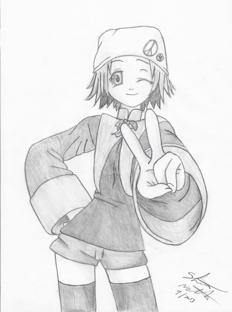 Cute Anime Girl Commission Sketch Finished By ShelandryStudio On DeviantArt