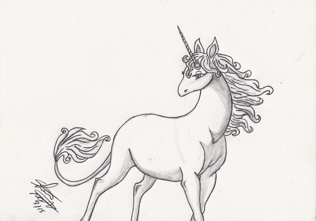 Unicorn pencil sketch finished by shelandrystudio