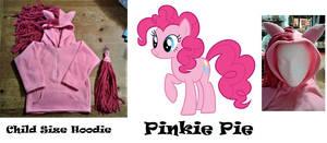 Pinkie Pie child size hoodie finished