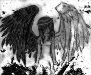 Fallen Angel by Devious-Kitty