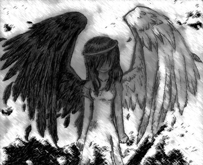Как рисуют падших ангелов