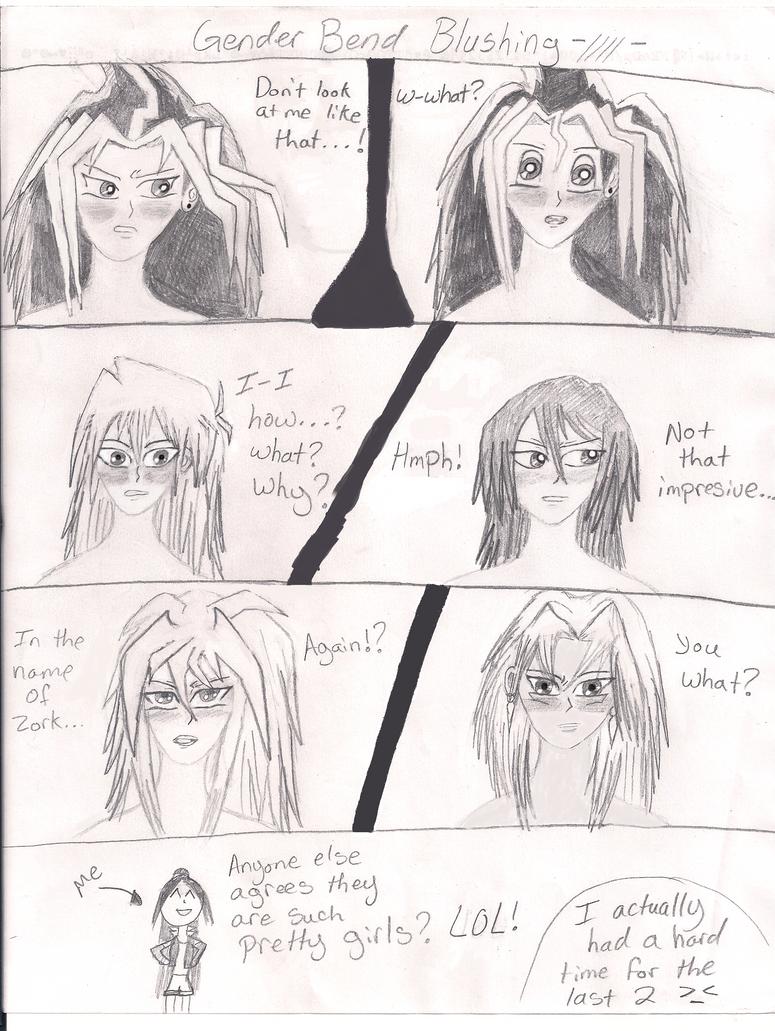 Yu Gi Oh Blushing Meme Genderbend By Darkyami1214 On