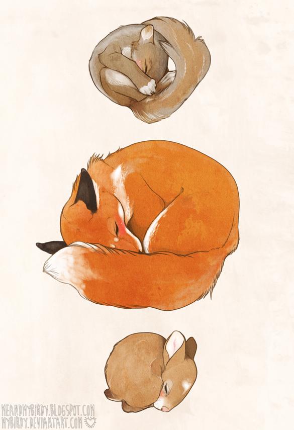 sleeping babies by mybirdy
