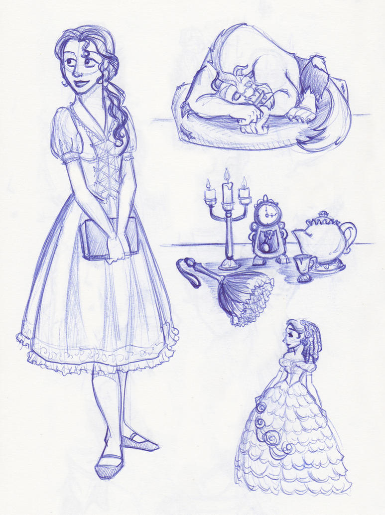 Belle, Beast and Objects (Oh, My?) by kuabci