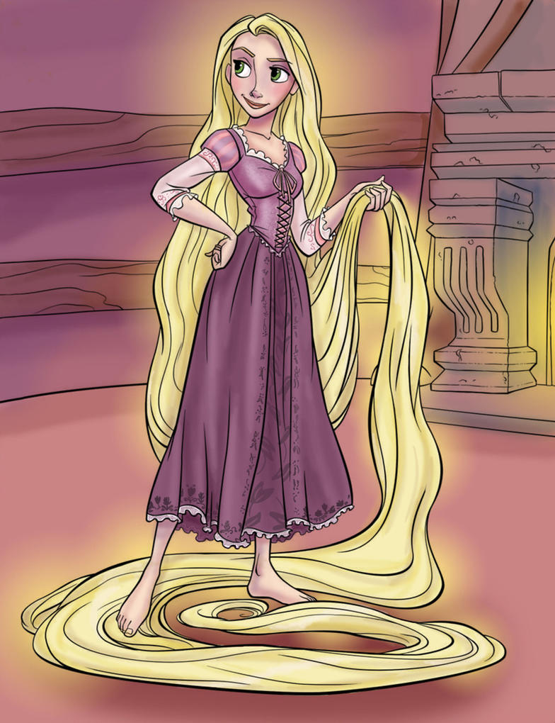 Grown-Up Coloring Book: Rapunzel by kuabci