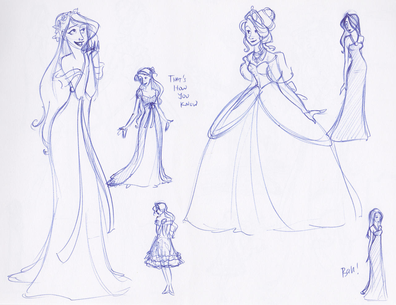 Giselle Costume Sketches by kuabci on DeviantArt